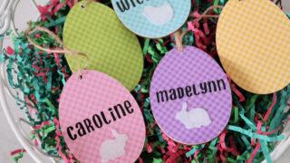 easter basket name tags