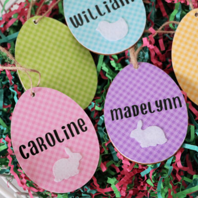 Cricut Easter Basket Tags