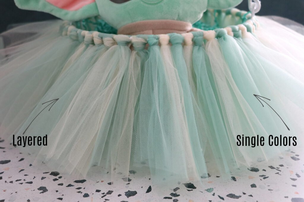 how to layer tulle