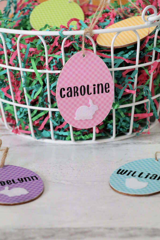 how to make cricut easter basket wooden tags