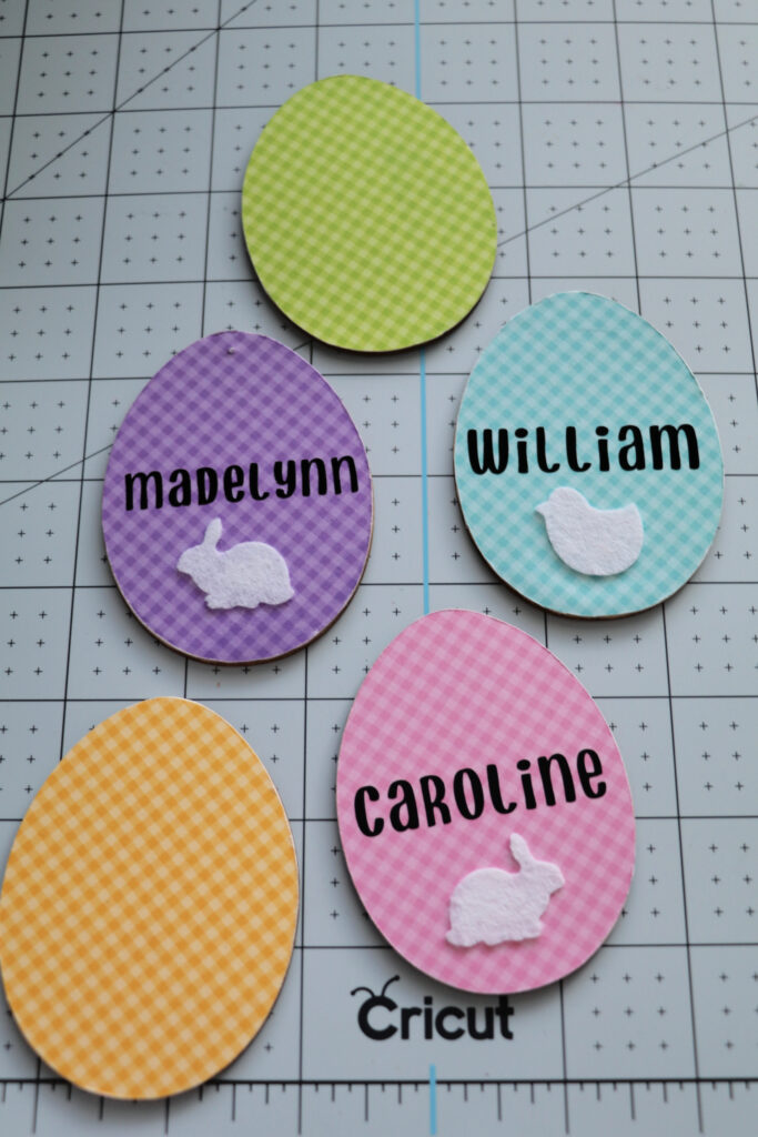 how to make easter name tags