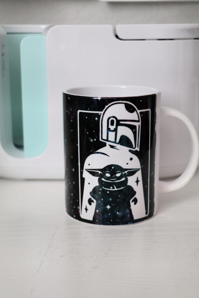 Baby Yoda Mandalorian Cricut Mug