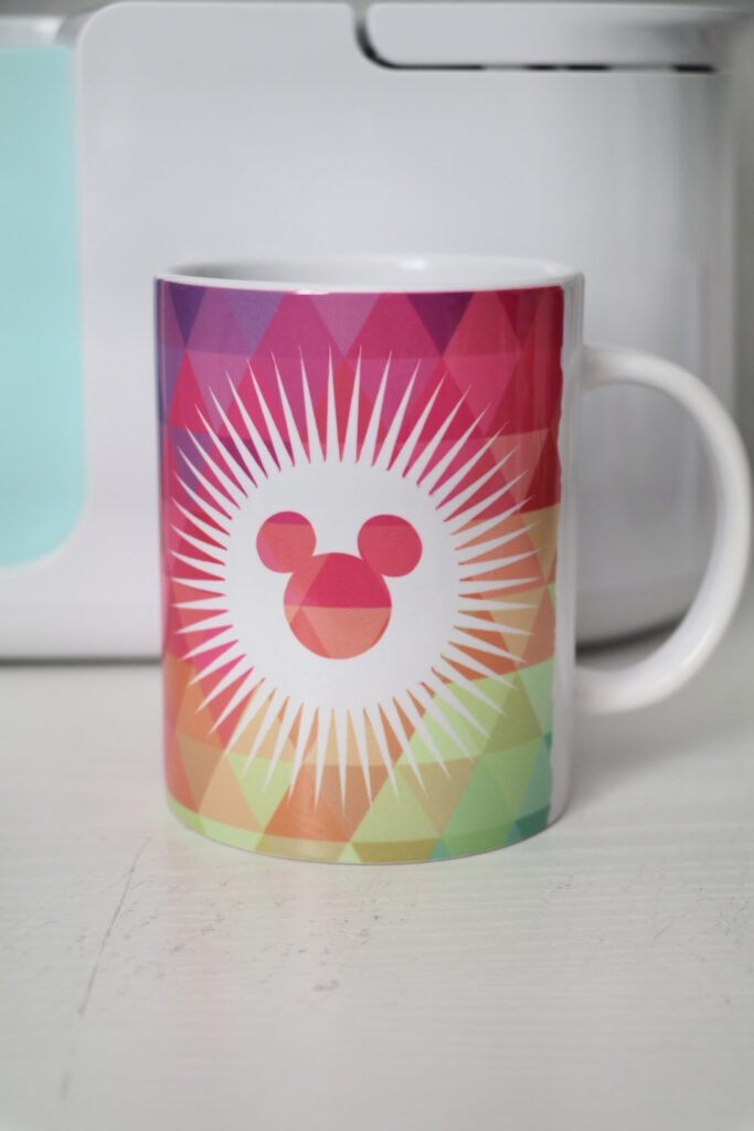 Mickey Mouse Sunburst Cricut Mug