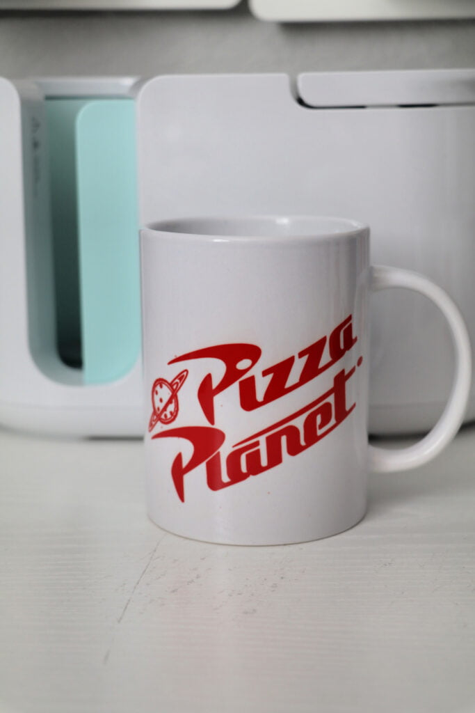 Pizza Planet Cricut Mug