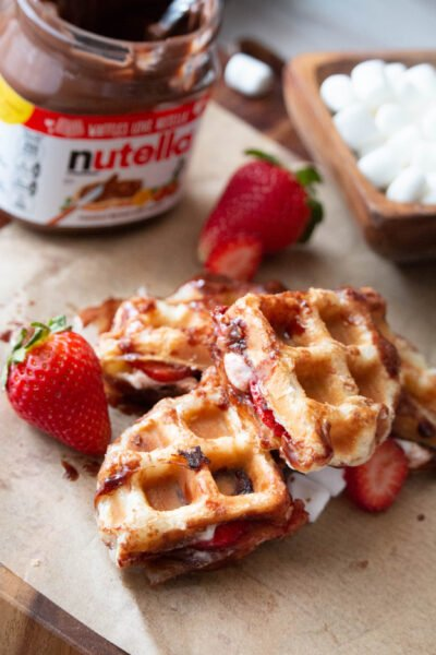 nutella strawberry s'mores puffle