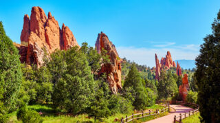 Garden of the Gods red rocks in Rocky Mountains