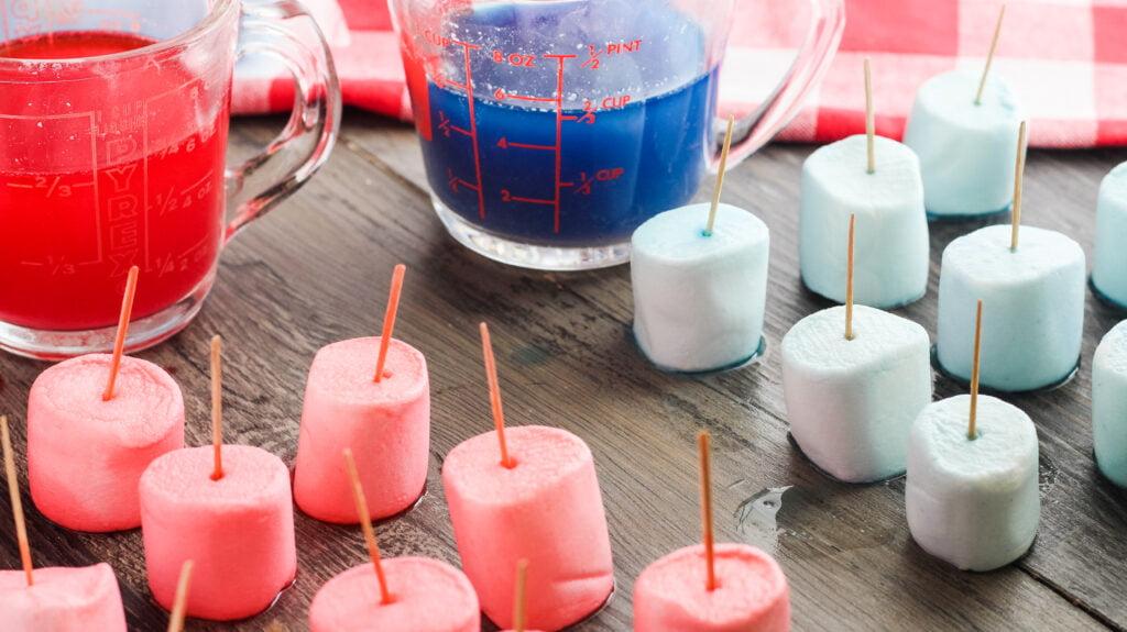 how to dye marshmallows