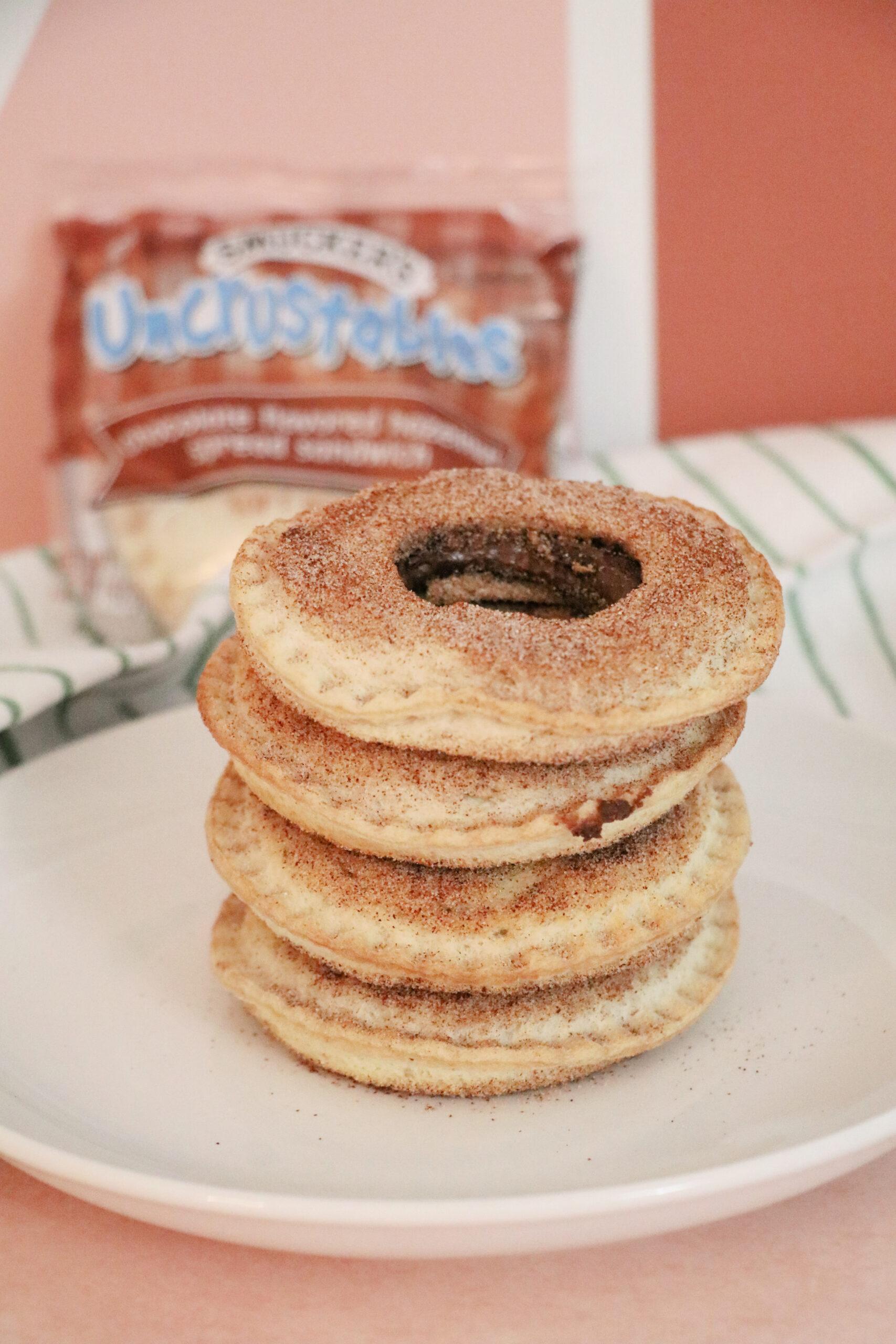 nutella uncrustable air fryer donut