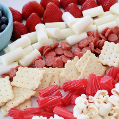 4th of july snack board for kids