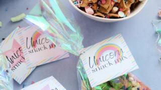Free Printable Unicorn Snack Mix Tags