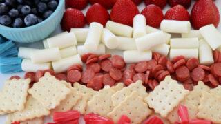 american flag kids snack board