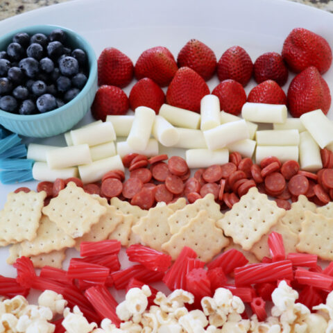 Flag Red White and Blue Kids Snack Board