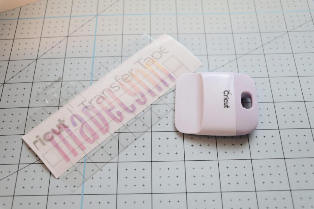 how to use cricut transfer tape