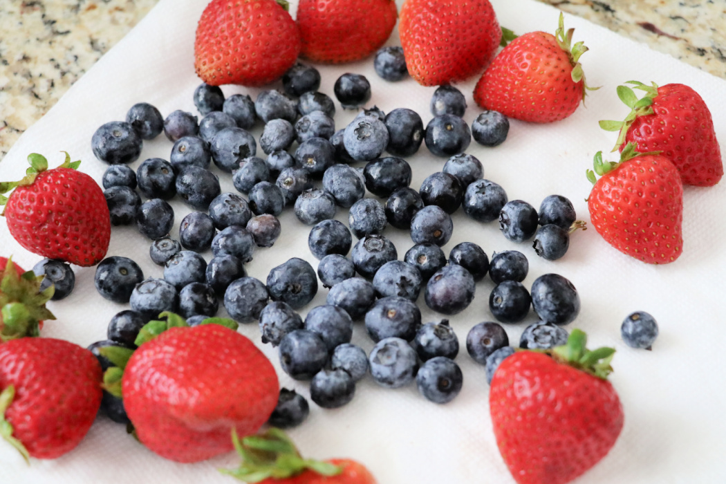 red white and blue foods for kids
