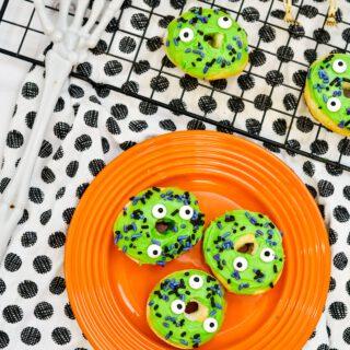 Air Fryer Halloween Monster Donuts