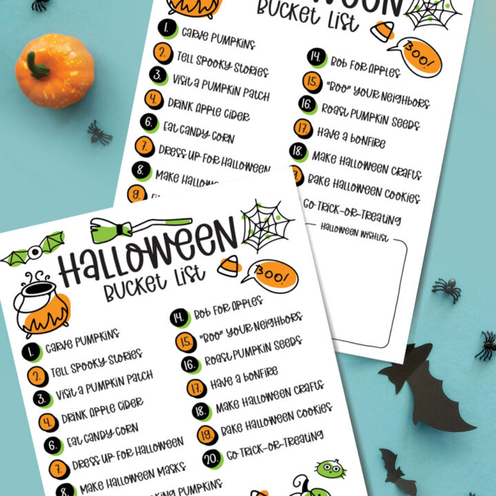 Halloween Bucket List – Free Printable