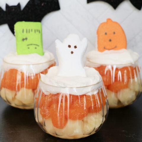 Halloween Peeps Fruit Cups